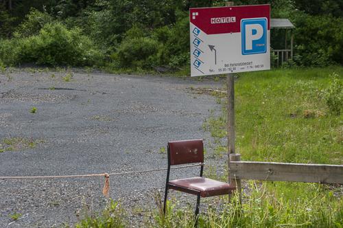 De stoel om het touw vast te houden, Harz